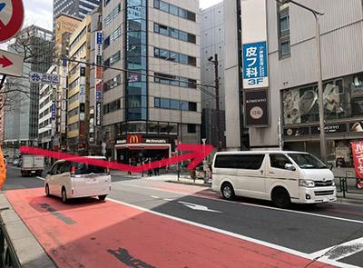 大江戸線新宿駅からのルート